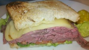 Roast beef and swiss grilled sandwich from Bread + Butter inside Borgata Hotel Casino & Spa