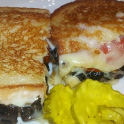 Portobello mushroom & provolone sandwich from Bread + Butter inside Borgata Hotel Casino & Spa