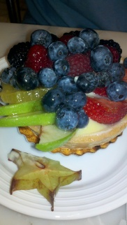 Fresh fruit tart from Bread + Butter inside the Borgata in Atlantic City, New Jersey