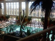Borgata pool and garden area