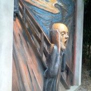 The Scream sculpture at Grounds for Sculpture NJ