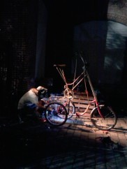 Custom bike welding at Art All Night Trenton 2013