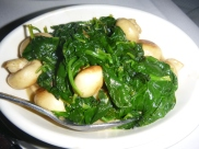 Sauteed Spinach & Button Mushrooms