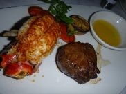 Petite filet and Lobster tail