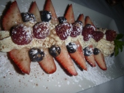 Mixed Berries with a sweet wine infused creme fresh