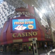 Up close Fremont Casino Downtown Las Vegas #eatgostay