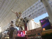 Neon Cowgirl on Fremont Street in Downtown Las Vegas #eatgostay