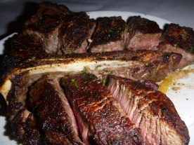 Porterhouse for two at Ruth's Chris Steak House Niagara Falls Ontario Canada