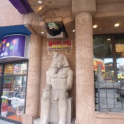 Egyptian statue on Clifton Hill Niagara Falls Ontario Canada