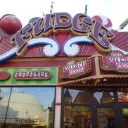 Fudge shop on Clifton Hill Niagara Falls Ontario Canada