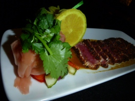 Sunomono Salad which accompanied the Seared Ahi Tuna Appetizer Ruth's Chris Steak House Niagara Falls Ontario Canada