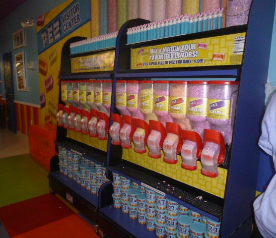 PEZ candy tasting bar!