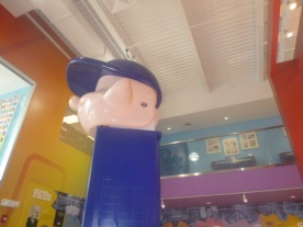 Huge PEZ dispenser at Visitor Center Museum