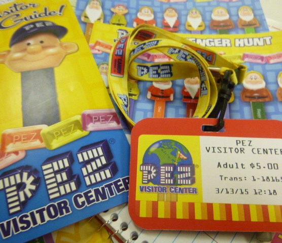 Scavenger hunt cards, visitor badge